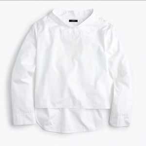 NWT J.Crew Funnel Neck Shirt in White